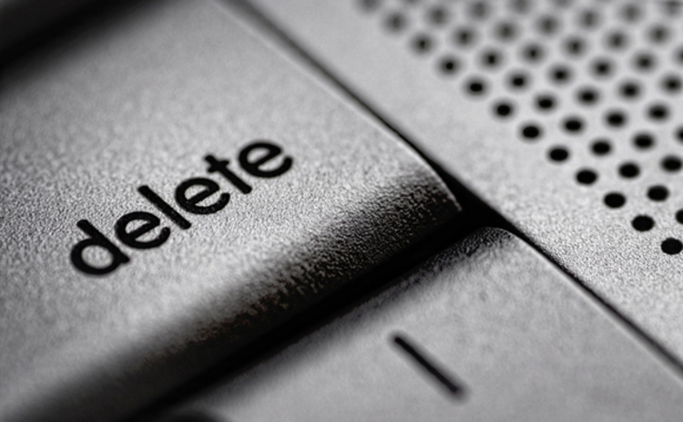 A delete button for data privacy