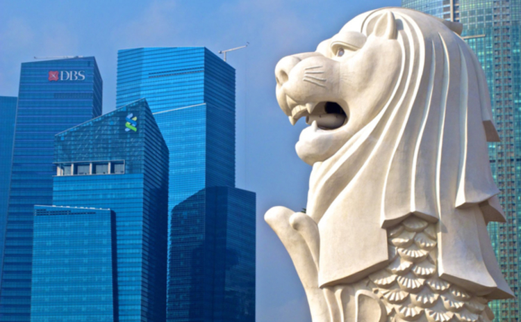singapore-merlion-buildings