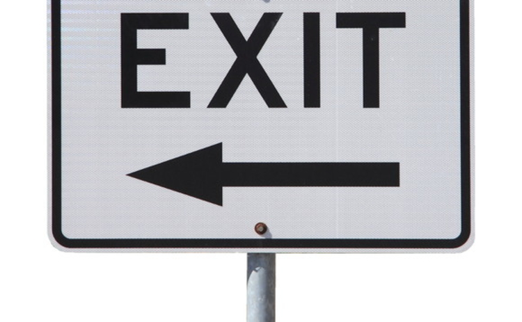 An exit sign
